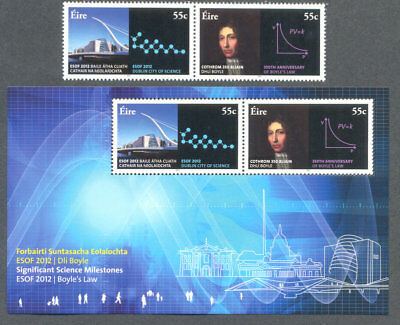 Ireland-Science Milestones set & Min sheet mnh