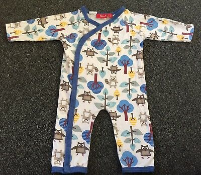 Sprout Forest Friends Owl & Raccoon One Piece Coverall Romper - Size 00