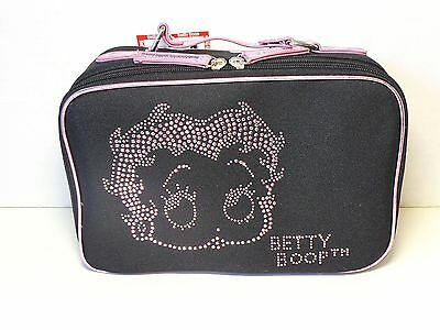 Betty Boop Cosmetic Bag Face Design Black