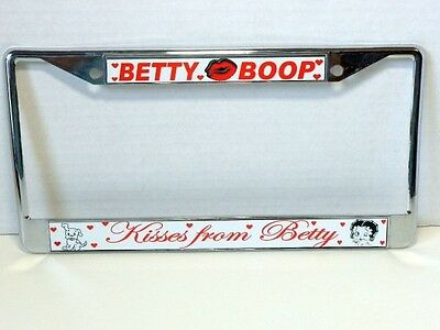 Betty Boop License Plate Frame Kisses From Betty Design