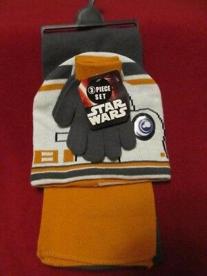 Disney Star Wars boy's 3pc BB-8 robot glove, hat and scarf set One size