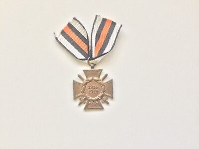 Ww1 German.hindenburg Cross Of Honor With Swords -:- Genuine.maker Marked.