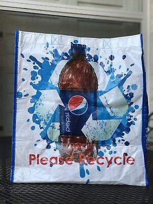 NEW ~ Pepsi Heavy Canvas Tote Bag ~ Book ~ Library ~ School ~ Grocery Shopping ~