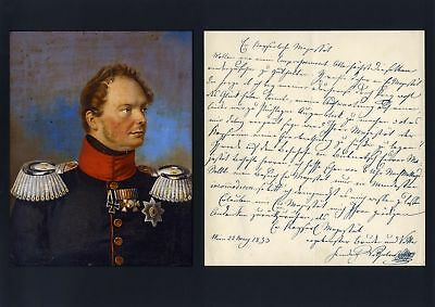 Frederick William IV autograph letter signed & mounted