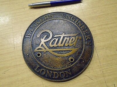 bronzed/  brass  safe plate / plaque Ratners