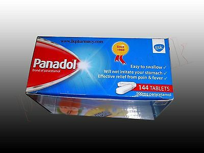 Panadol 500mg,144 Tablets Pain Killer Headache, Fever, Cold, Flu, Ship Worldwide