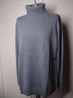 ESCADA WOOL/CASHMERE GREY TURTLENECK/JUMPER    SWAROVSKI ELEMENTS Size XL/UK 14-