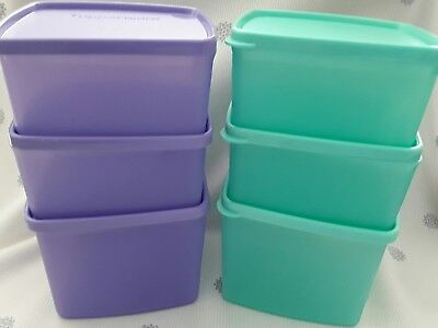 Tupperware square rounds /Cool n freash set of 6