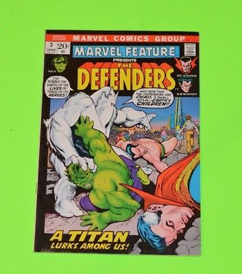 Marvel Feature The Defenders 3! 5 1st Appearances! Gil Kane Cover! Huge Auction!