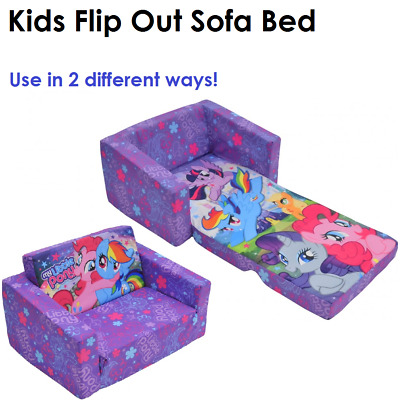 New Kids Sofa Bed Portable Flip Out Toddler Flipout Day Chair Couch Little Pony
