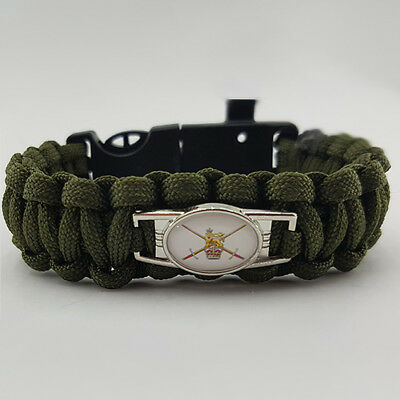 British Army Badged Survival Bracelet Tactical Edge.