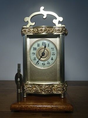 Louis XV Doucine cased French carriage clock - circa 1900/10 - restored 08/17