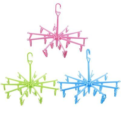 New Hanging Dryer 20 Clips Pin Laundry Clothes Hanger Octopus Foldable FC