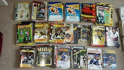COLLECTION of over 250 Sheffield Steelers Away programmes 92/93 -2009