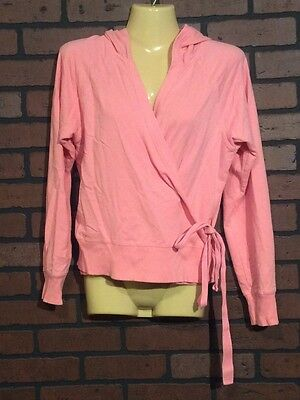 Liz Lange Maternity jacket Pink XL Cotton Blend Open With Wrap Around Women