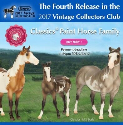 Breyer Vintage Club 4th Release Classics Paint Horse Family! - Free Shipping!