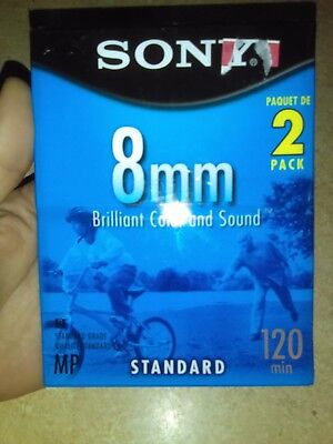 New 2 Pack Sony 8Mm Standard 120Min Brilliant Color And Sound