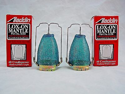 Two (2)  Pack  Aladdin  R-150  Lox-On  Oil  Lamp  Mantle