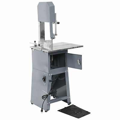 Electric 550W Stand Up Butcher Meat Band Saw & Grinder Processor Sausage Gray