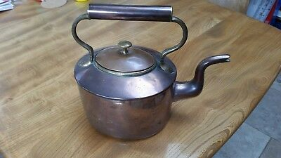 VICTORIAN COPPER KETTLE early 19th Century Tea Pot Brass kitchen copperware GOOD