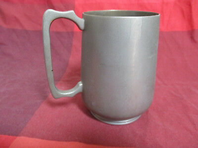 Antique Pewter Half Pint Tankard Stamped and Engraved Letter 'R'