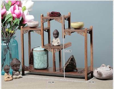 Chinaese Beautiful Wooden Handmade Collection Of Antiques Shelves XY38
