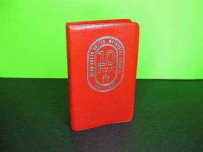 FRENCH MOROCCAN Red Leather ~ RSV New Testament & Psalms, 1971 HOLMAN BIBLE