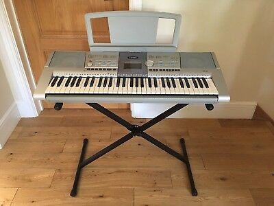 yamaha electric keyboard portatone with stand and cover. Black Bedroom Furniture Sets. Home Design Ideas