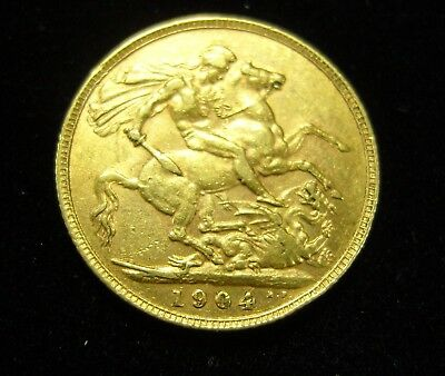 1904 Gold Sovereign - King Edward VII - London