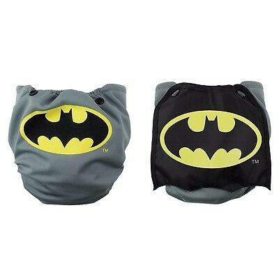 NEW Bumkins Cape Batman Cloth Diaper Snap In One DC Superhero AIO Adjustable