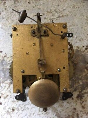 "Vintage Mantle Clock Movement And Pendulum Approx. 5"" X 6.5"" For Spares/repairs"