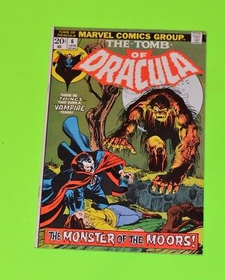 Tomb of Dracula 6 High Grade Bronze Age Marvel Horror! Neal Adams Cover! Hot!