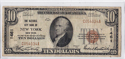 $1929 Type 1 The National City Bank Of New York NY Charter # 1461