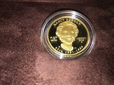 2016 W First Spouse Gold Proof Coin Nancy Reagan $10 1/2 Ounce .9999 Gold OGP