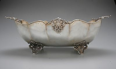 Large 800 Silver Fruit Bowl Centerpiece, Alessandria, Italy,