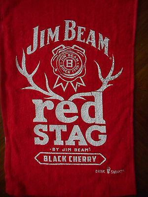 JIM BEAM  RED STAG Golf / Bar towels 2 ea. new