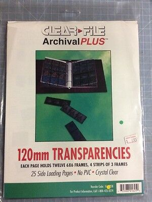 Clear File Archival Plus 16B 120mm Transparency Storage Sheet, Pack of 25