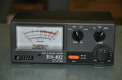 NISSEI RS-402 POWER -SWR METER  125MHz TO 525MHz WITH LARGE METER DISLAY