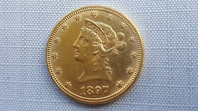1897  Liberty Head $10 Eagle Gold Coin