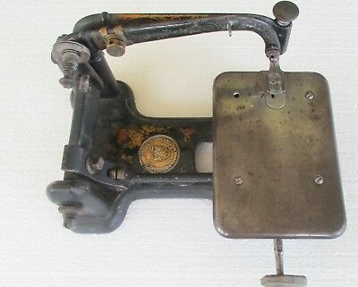 1870 Wheeler Wilson Sewing Machine Head W/Bobbin, Wheel, and Needle #483664