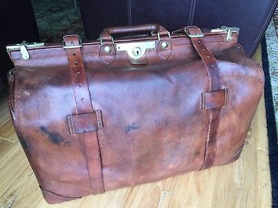 Antique Leather Gladstone Bag Piccadilly Circus Xl