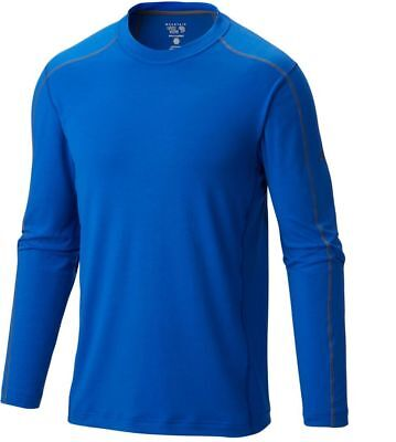 Mountain Hardwear CoolHiker L/S T-Shirt, Mens Wicking Top, Azul Blue, XL