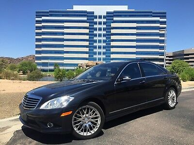 2009 Mercedes-Benz S-Class 4-MATIC AMG 2009 MERCEDES BENZ S550 AMG SPORT 4-MATIC MAJESTIC BLACK 1-OWNER NON-SMOKER 85K