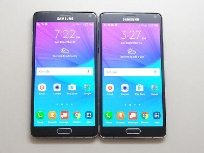 Lot of 2 Samsung Galaxy Note 4 SM-N910V Verizon Unlocked 32GB Smartphones AS-IS!