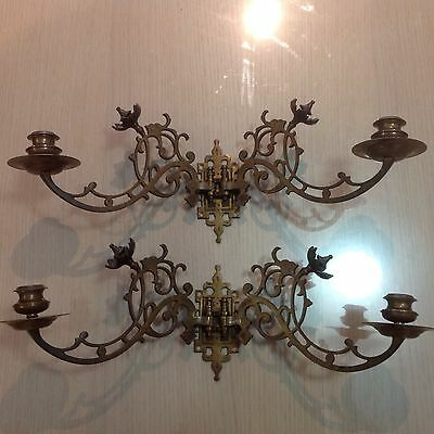 Piano Candle Holders Solid Brass Double $375.00 ONO Reservoir