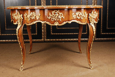 Masterfully Worked French Round Salon Table in the Baroque Style of Lo
