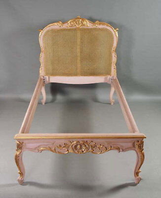 Decorative Bed in the Antique and Old Baroque Style of the Louis Quinze