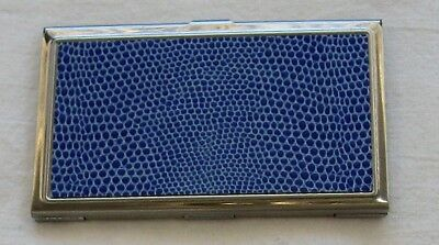"""Lilac Leather cover Jones New York business card holder/Mirror 3.75"""" x 2"""""""