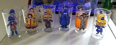Vintage 1977 McDonald's Collector Series Glasses Set of 6