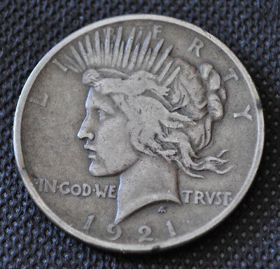 1921 Peace Silver Dollar - Key Date! Nice Circulated - Free Shipping